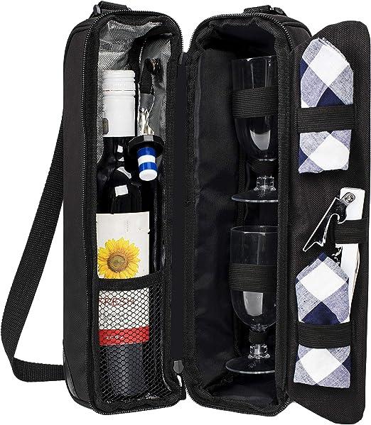 Amazon.com: ALLCAMP Bolsa de vino aislada y bolsa de viaje ...