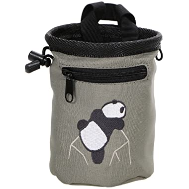 AMC Rock Climbing Panda Embroidered Chalk Bag w/Zip Pocket