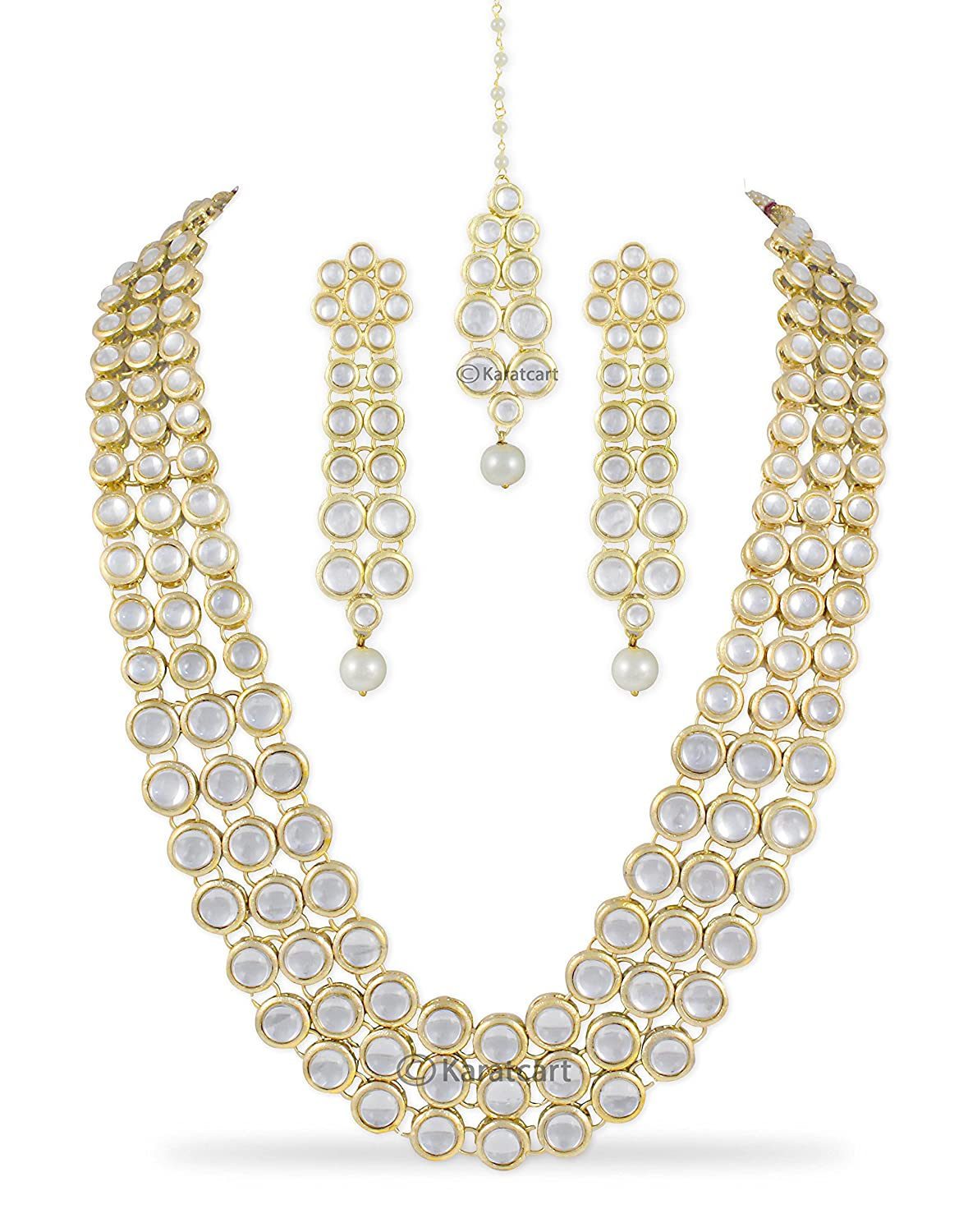 Karatcart Anushka Sharma Inspired Traditional Kundan Pearl