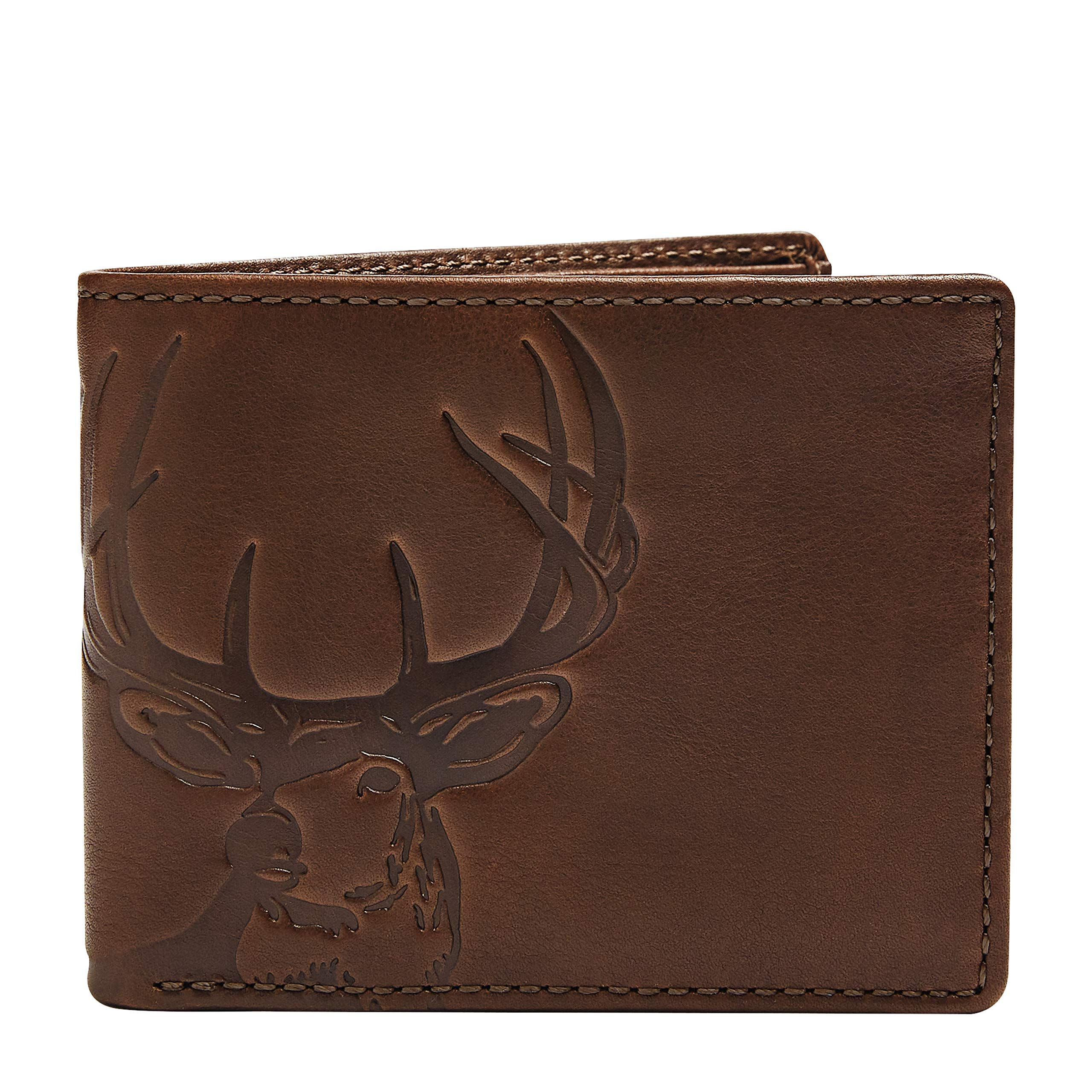 HOJ Co. DEER Wallet-Double ID Bifold-Full Grain Mens Leather Wallet-Multi Card Capacity