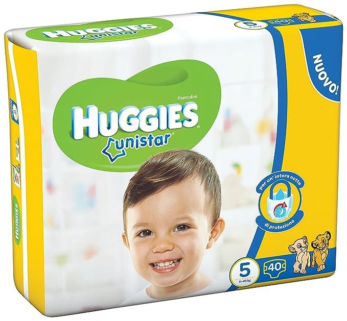 Huggies - Unistar - Pañales - Talla 5 (11-25 kg) - 40 pañales: Amazon.es: Salud y cuidado personal