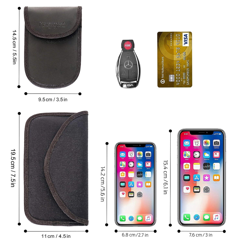 1 x RFID Faraday bag for car keys /& Cell Phones HAPPYTAT 1 x RFID keyless car key signal blocker pouch