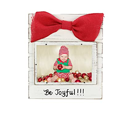 Wooden Christmas Frame With Red Burlap Bow By Young\'s Inc. (Be ...