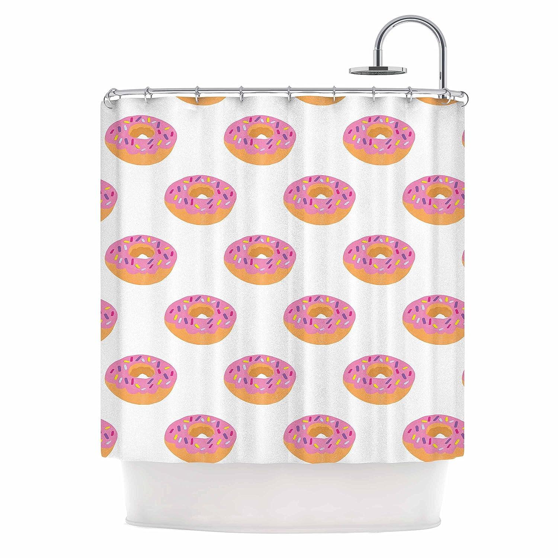 69 x 70 Shower Curtain Kess InHouse Vasare NAR Doughnut Heaven Pink Digital
