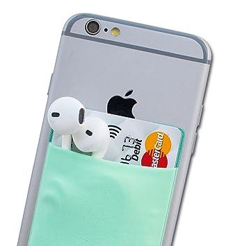 Atkolé Wallet - Funda-Cartera Adhesiva (con pegamento) para Celular con cinta adhesiva (Turquesa) de 3M. Un accesorio indispensable para celulares, un ...