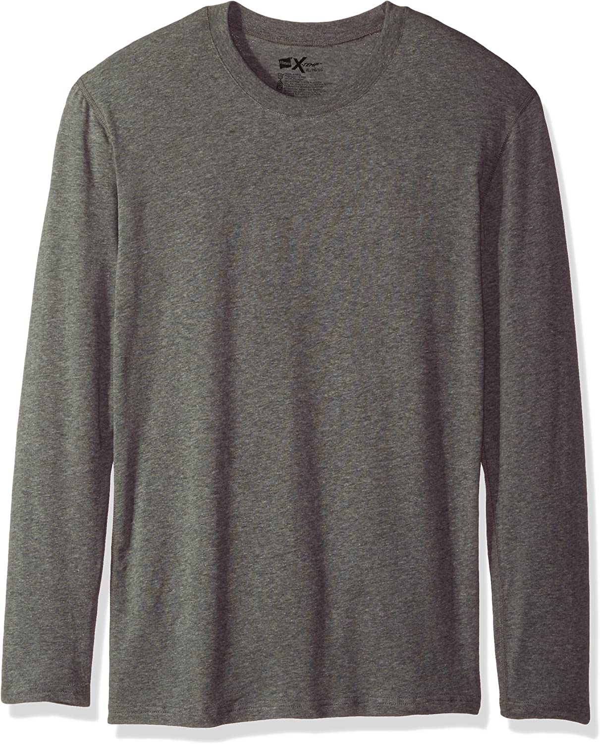 Hanes Mens Dyed Thermal Crew with Freshiq