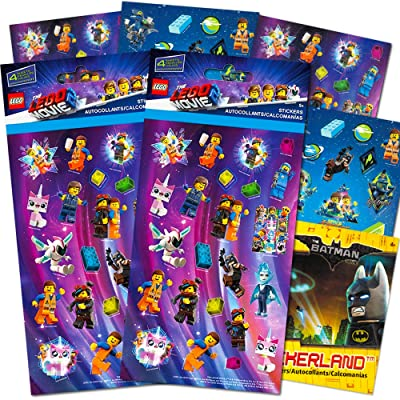 Lego Movie 2 & Batman Stickers Party Supplies Set ~ 14 Lego Batman & Lego Movie 2 Party Favors Sheets (300+ Stickers): Toys & Games