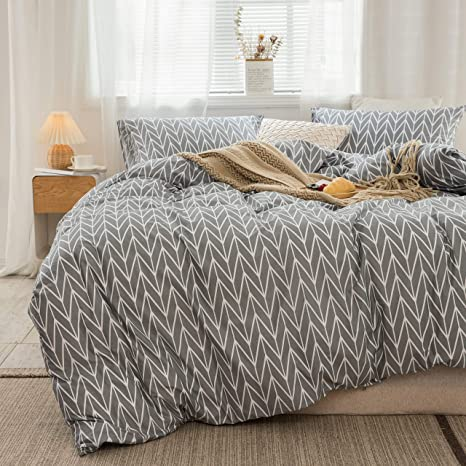 Amazon Com Reversible Arrow Herringbone Bedding Sets Cotton Duvet Covers Twin Size Geometric Teen Bedding Sets With 1 Comforter Cover And 2 Shams Corner Tie 3 Piece Bed Set Twin Kitchen Dining