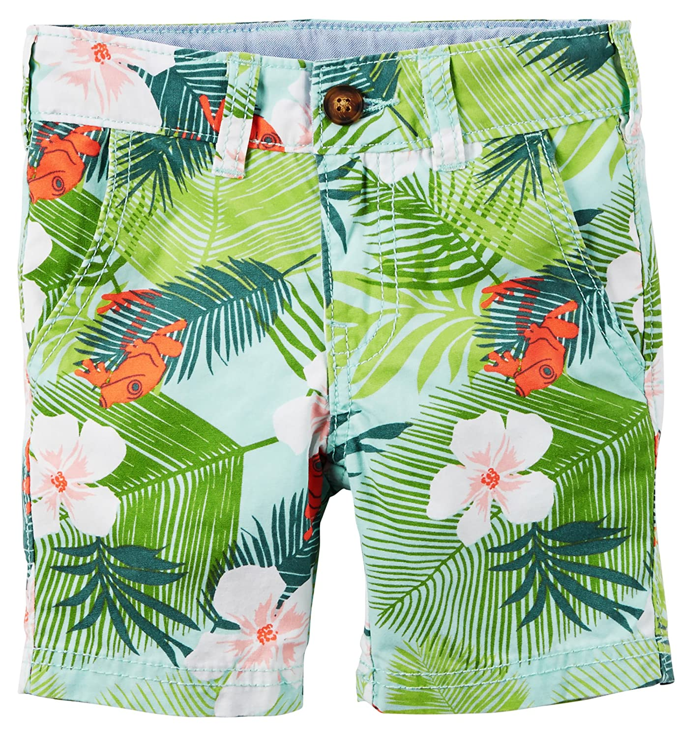 Carters Boys Flat Front Tropical Shorts