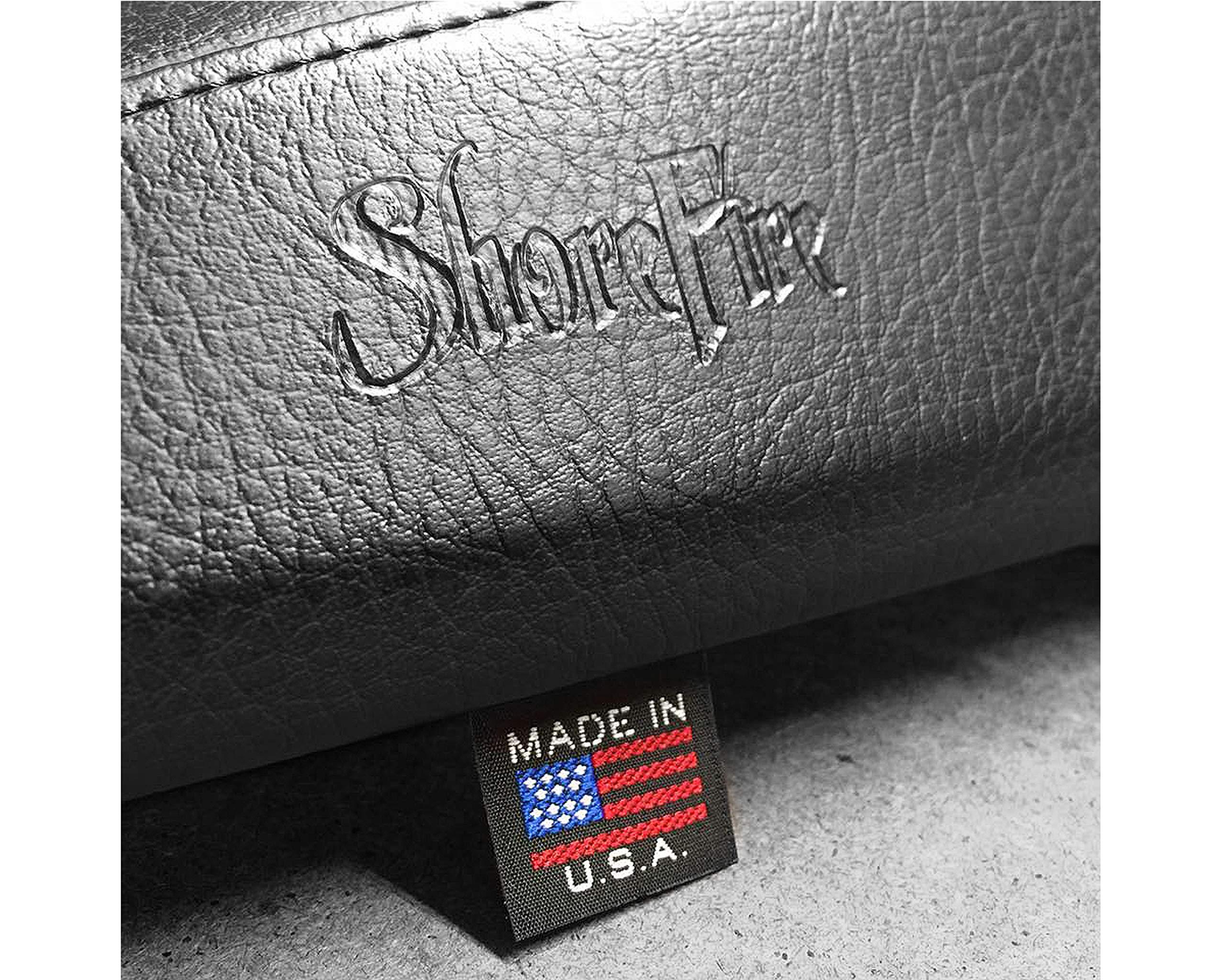 Black Stitch 2014-2019 Premium Saddlebag Lid Covers For Harley Davidson Baggers by ShoreFire Design