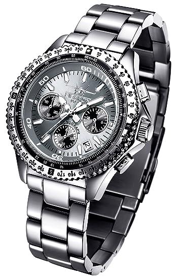 Reloj FIREFOX CITIZEN RACER FFS15-104 de acero inoxidable Cronógrafo Gris Titanio: Amazon.es: Relojes