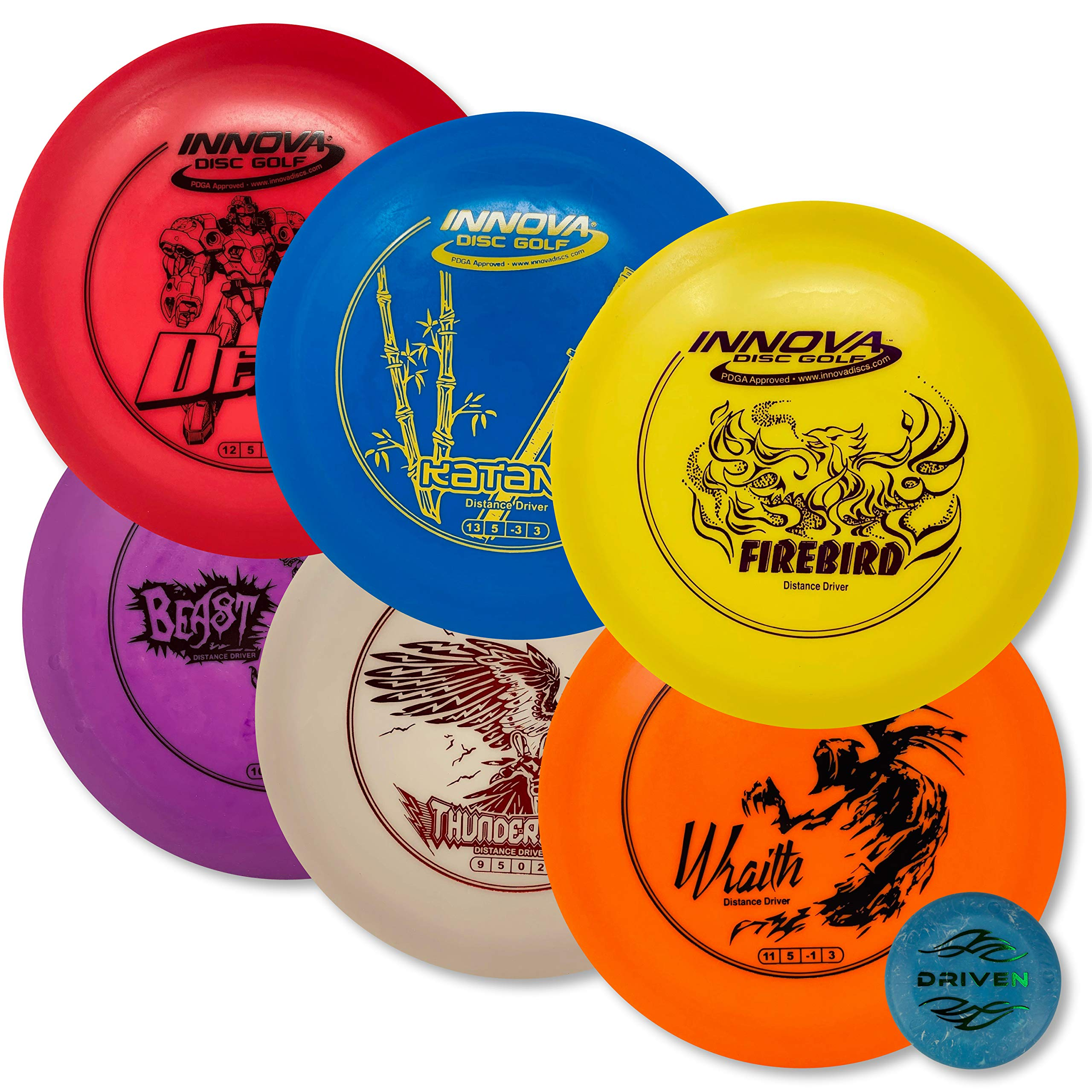 Driven Disc Golf - Advanced Players Pack (6 Disc Driver Set (Colors Vary)) by Driven Disc Golf (Image #1)