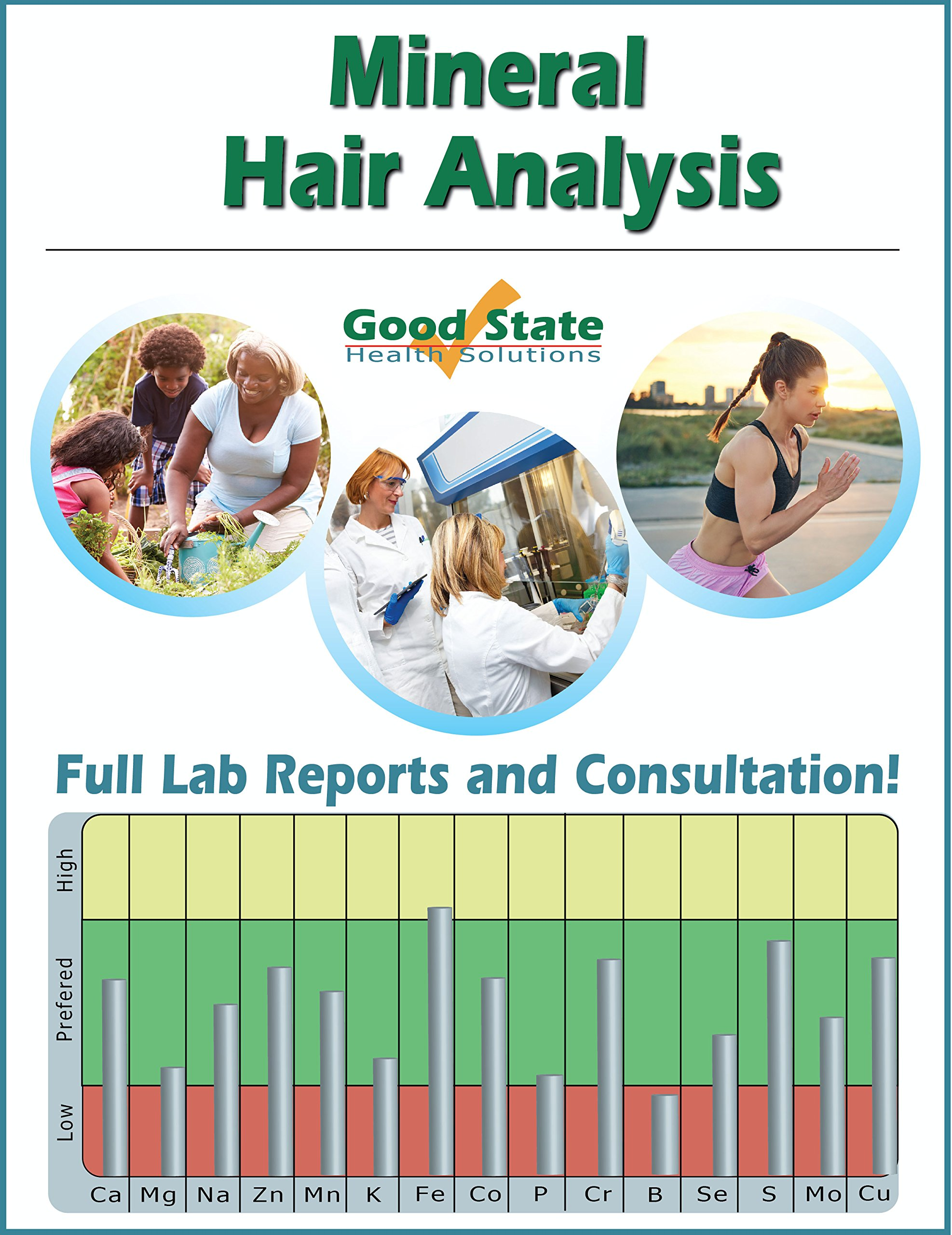 Mineral Hair Analysis - Reports & Personalized Consultation - Includes Test Sample Collection Kit and Pre-Paid Sample Return Label