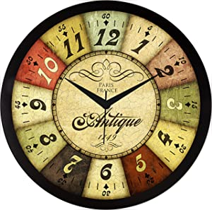IT2M 11.75 Inches Designer Wall Clock for Home/Living Room/Bedroom/Kitchen (9084)