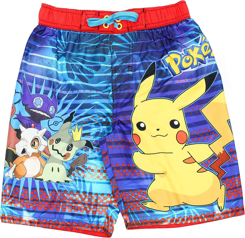 Little Kid//Big Kid Pokemon Pikachu Boys Swim Trunks Swimwear 14//16, Red//Royal