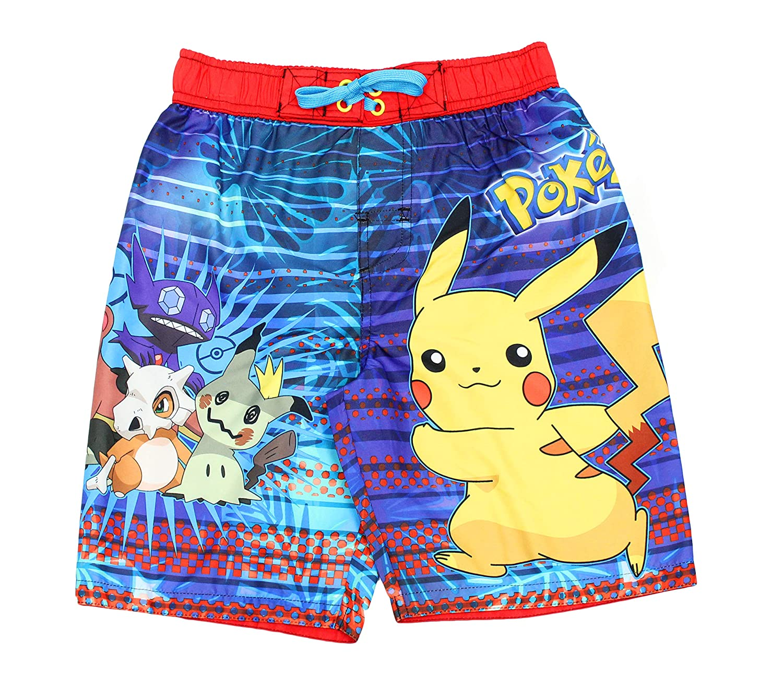 6ede964fd8 Amazon.com: Pokemon Pikachu Boys Swim Trunks Swimwear (Little Kid/Big Kid):  Clothing