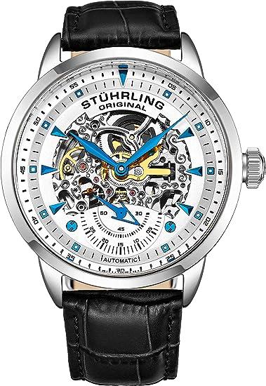 Stührling Original 133.33152 - Reloj analógico para hombre, correa de cuero: Amazon.es: Relojes