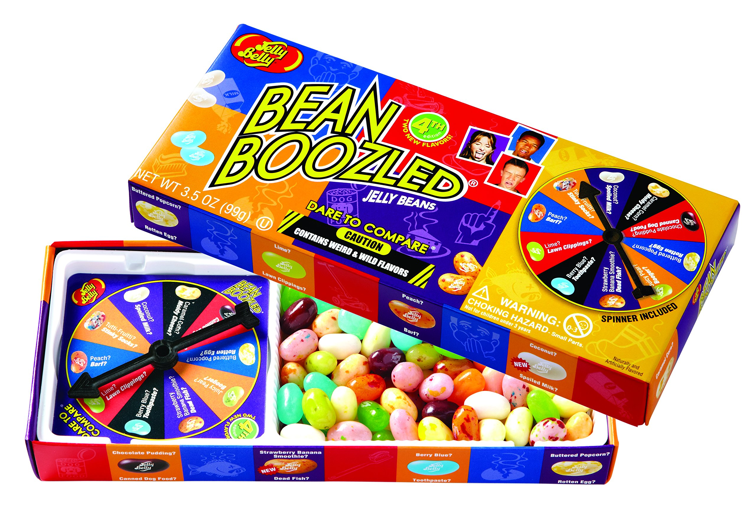 Jelly Belly BeanBoozled Jelly Beans Spinner Gift Box, 4th Edition, 3.5-oz, 10 Pack
