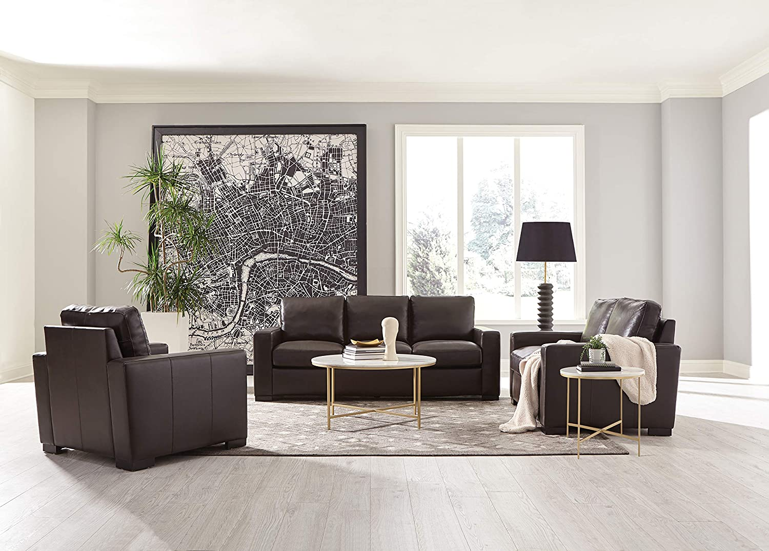 Coaster Home Furnishings Boardmead Track Arm Upholstered Dark Brown Sofas