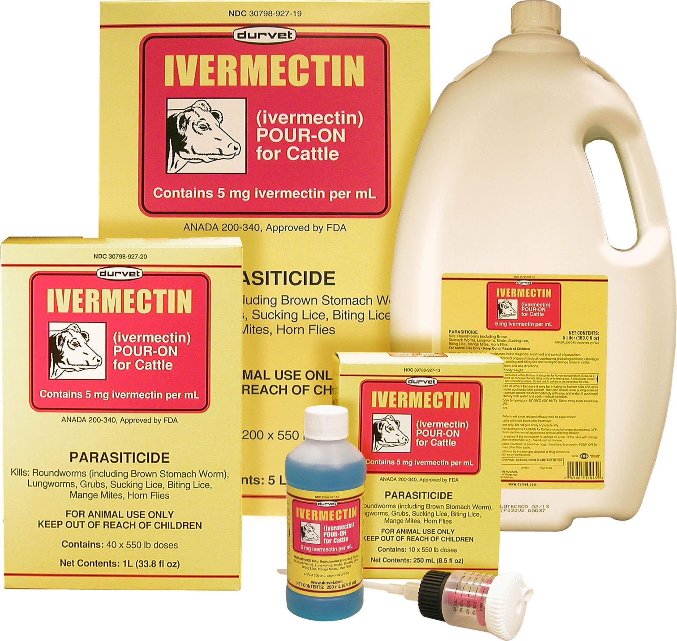 IVERMECTIN POUR ON FOR CATTLE - 1 LITER