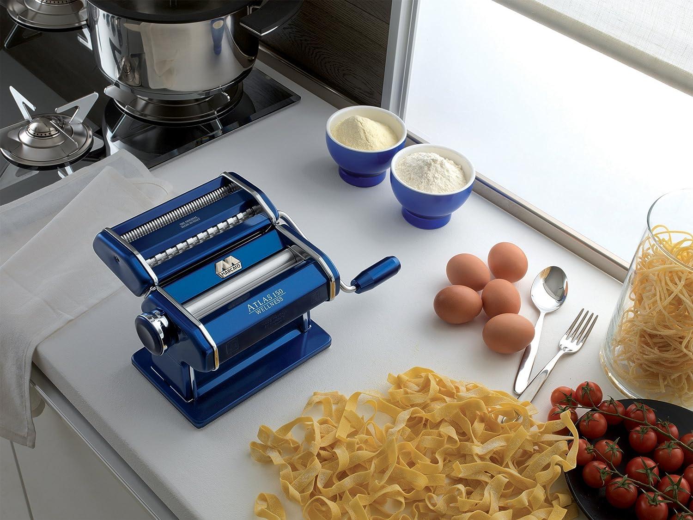 Compra Küchenprofi 08 0163 12 00 Atlas 150 Máquina para hacer Pasta de aluminio azul en Amazon.es