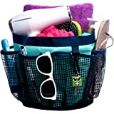 Fancii Portable Mesh Shower Caddy Tote, Quick Dry, 7 Large Storage Pockets & Key Hook - Hanging Bath & Toiletry Organizer Bag for College Dorm, Travel, Gym & Camping