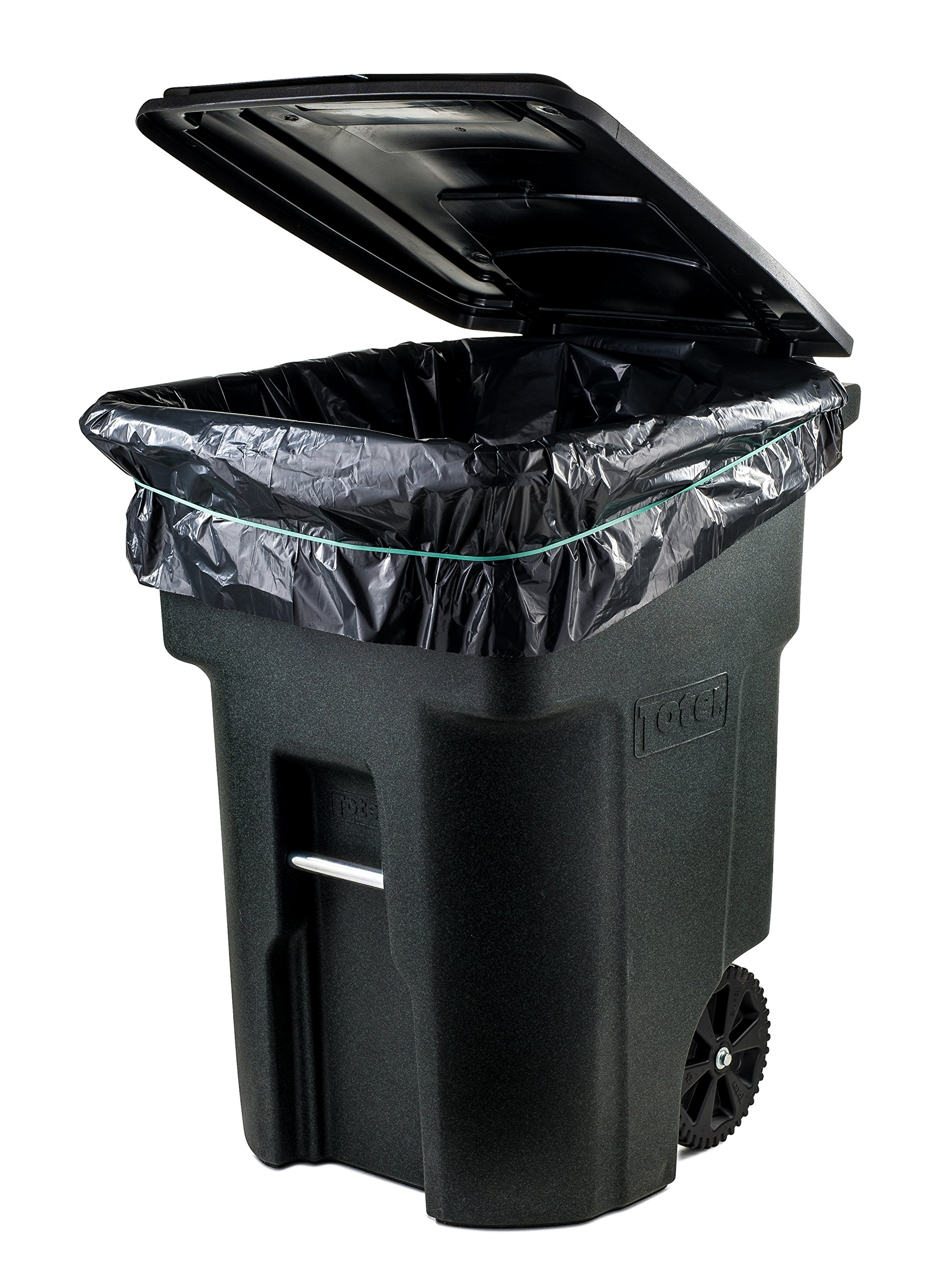 Plasticplace 95 Gal Trash bags, Black, 2 Mil, 61x68, 25 Bags per Case by Plasticplace (Image #2)
