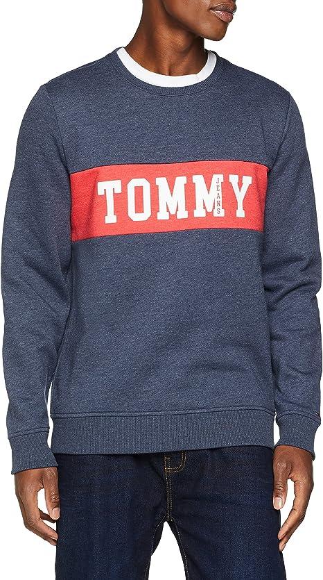 TALLA XL. Tommy Hilfiger Panel Logo sudadera para Hombre