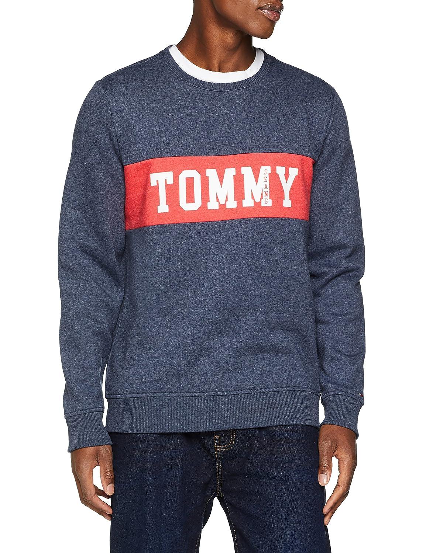 TALLA XL. Tommy Jeans Hombre Panel Logo sudadera Manga Larga