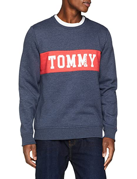 Tommy Jeans PANEL LOGO CREW - Sudadera - grey