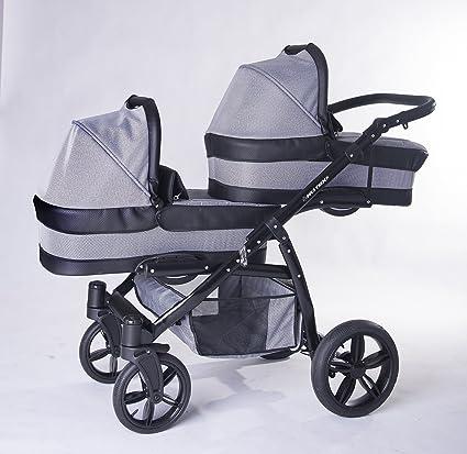 Carro gemelar 3en1 ISOFIX. Capazos+sillas+sillas de coche+Isofix+accesorios