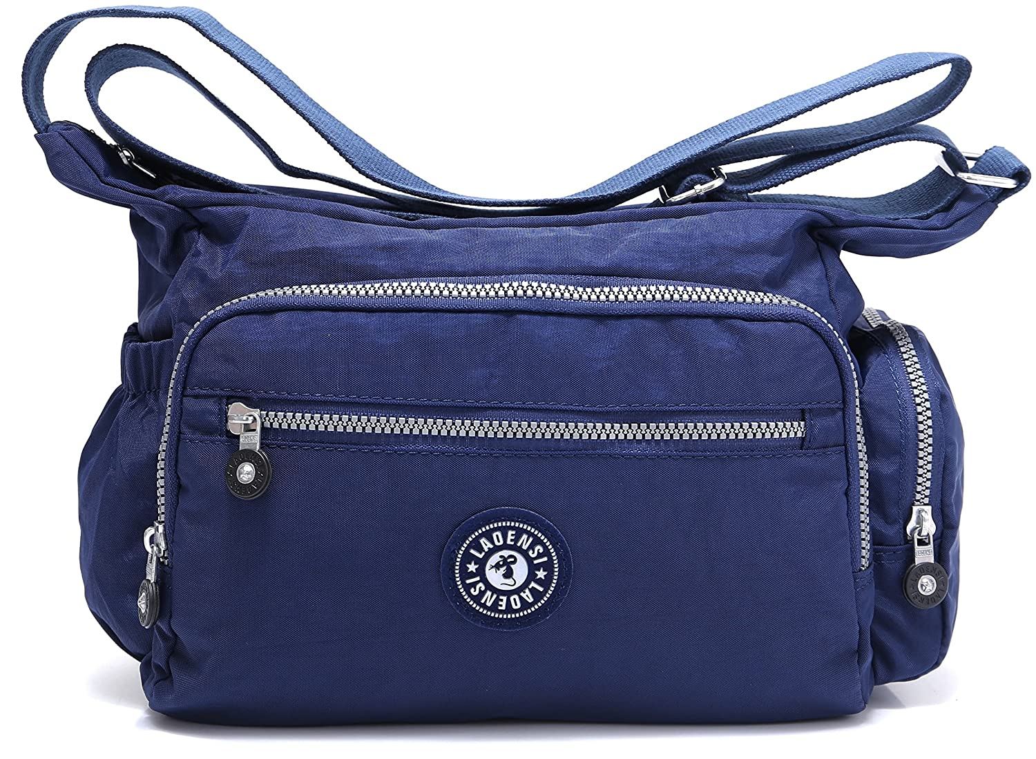 BEKILOLE Nylon Crossbody Purse Multi-Pocket Travel Shoulder Bag - Unisex Water Resistant Travel Bag (Model# KL1144)