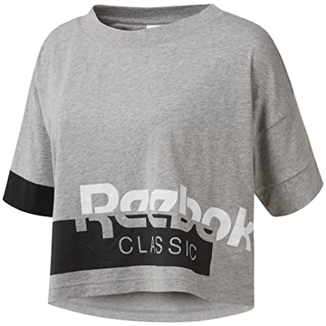 c1126fad146 Amazon.com   Reebok Active Chill Cropped Tee   Clothing