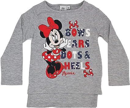 Disney Camiseta Infantil Minnie niñas Manga Larga 100% algodón (3 años, Gris): Amazon.es: Ropa y accesorios