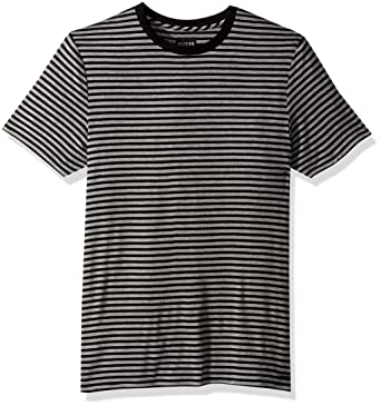 b8be26bf08 GUESS Men's Short Sleeve Soundbar Crew Neck Shirt, Jet Black/Multi, ...