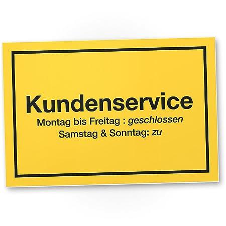 Kundenservice Kunstoff Schild Kunststoff Schild Mit Spruch