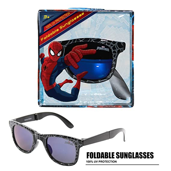 c5987be949fd Marvel Spider-Man Foldable Kids Children Boys Sunglasses with 100% UV  Protection UV Shielding Sunglasses Black: Amazon.in: Clothing & Accessories