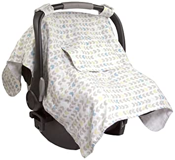 Summer Infant Muslin Little Looks Car Seat Cover Arrow Stripe