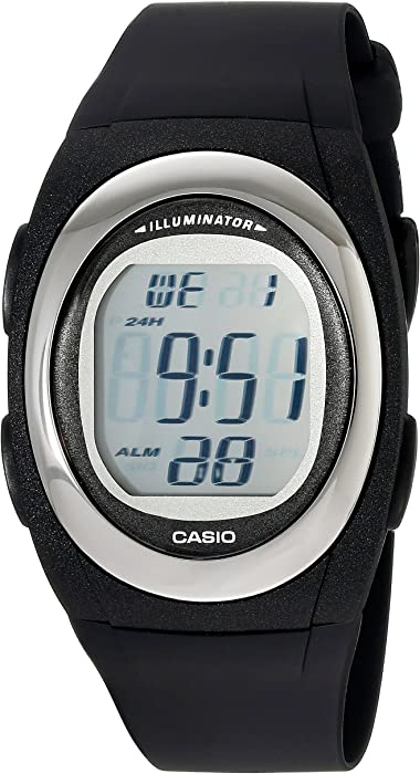 Casio Mens FE10-1A Classic Digital Black Resin Band Watch