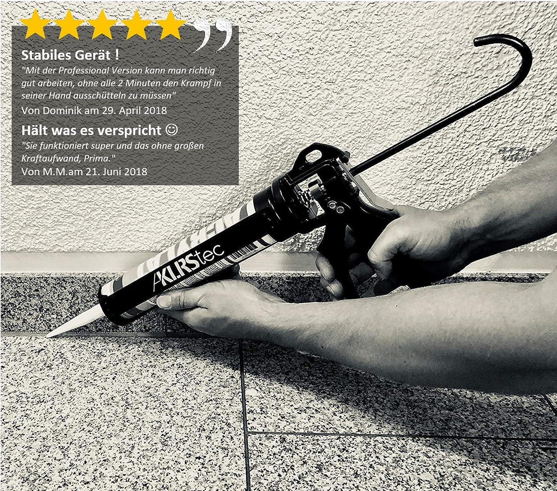 KLRStec PROFESSIONAL calafatear alta calidad Silicona Jeringa - Silicona Pistola de aluminio para todo tipo de 310 ml resistente al de y klebstoffkartuschen ...