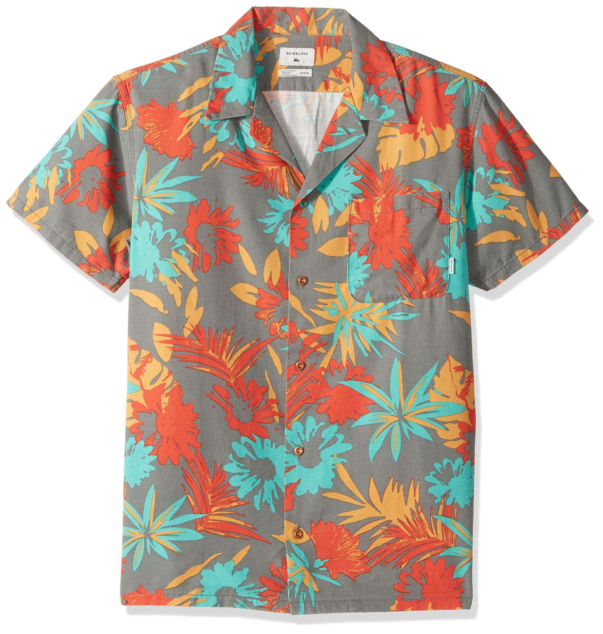 Quiksilver Men's Desert Trip Camp Short Sleeve Shirt, Quiet Shade Desert Trip, Medium