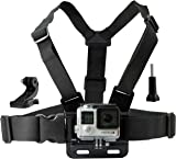 Chest Mount Harness for Gopro Hero 6, Hero 5, Black, Session, Hero 4, Session, Black, Silver, Hero+ LCD, 3+, 3, 2, 1 – Fully Adjustable Chest Strap - Also Includes J-Hook / Thumbscrew / Storage Bag