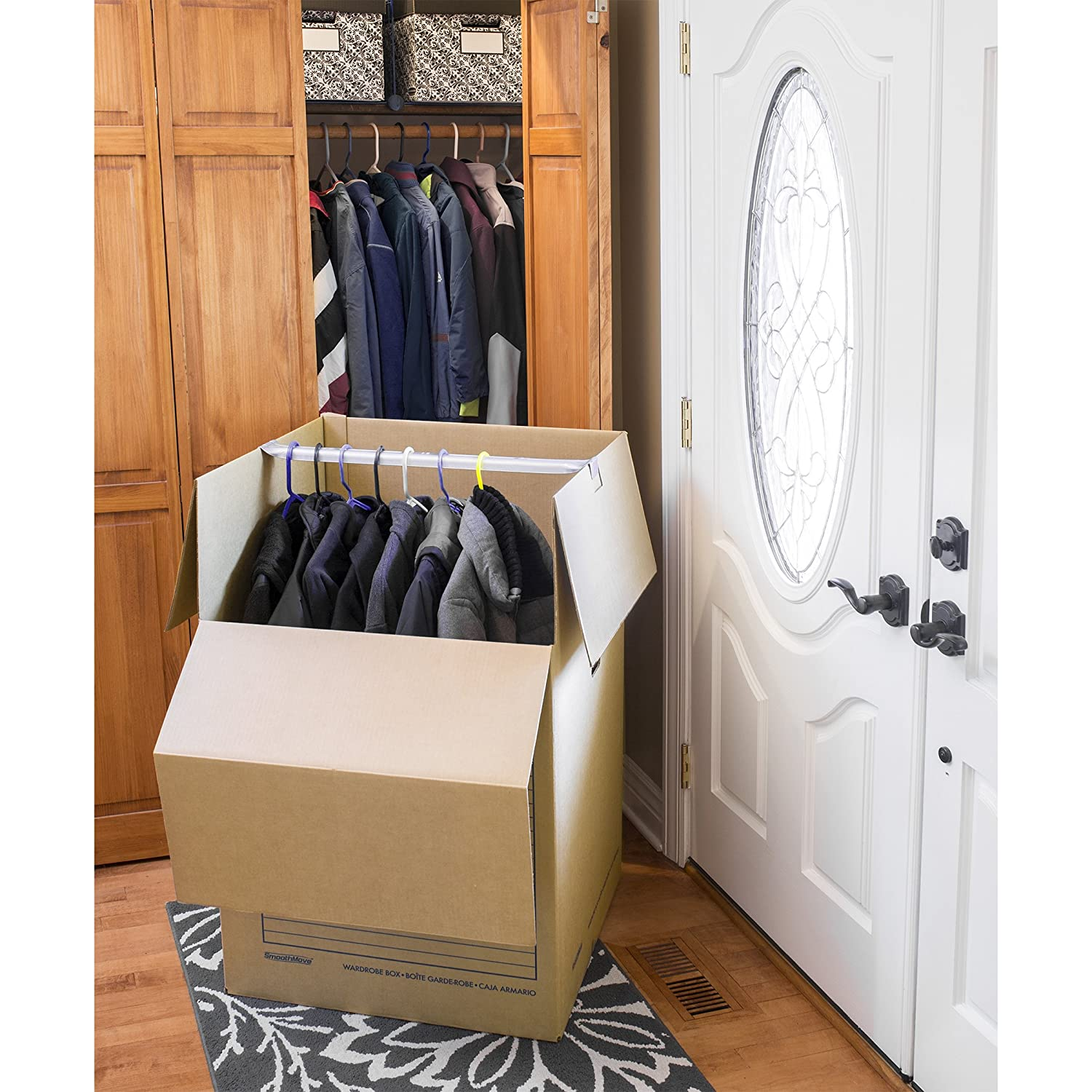 Bankers Box SmoothMove Wardrobe Box, 24 x 24 x 40 Inches, 3 Pack (7711001) Fellowes