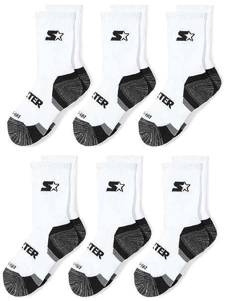 Starter Boys 6-Pack Athletic Crew Socks, Amazon Exclusive