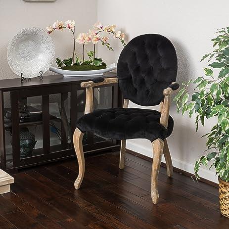 Marvelous Marlon Velvet Black Arm Dining Chair
