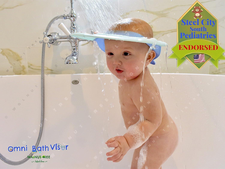 Amazon.com : Sky Blue Walnut Tree Omni Bath Shower Visor Protection ...