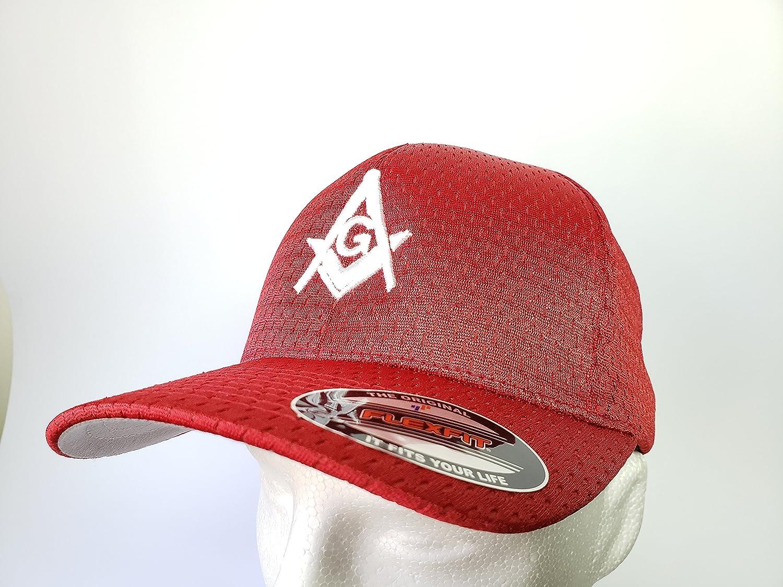 Masonic Hat Flexfit 3D Embroidery (All Black) Masonic Gears