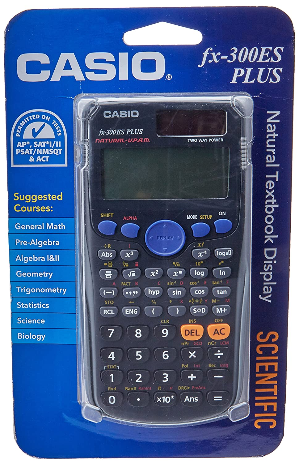 Amazon.com: Casio fx-300ES PLUS Scientific Calculator, Black: Electronics