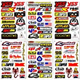 Motocross Supercross Dirt Bike Motorcycles MotoGP ATV Helmet Racing Lot 6 Vinyl Graphic Stickers Decals D6206 Best4Buy