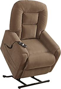 "Pulaski Home Comfort Collection Power Lift Chair, 32.5"" L x 39.0"" W x 43.0"" H, Brown"